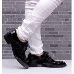 Black Suede Point Head Lace Up Baroque Mens Oxfords Dress Shoes