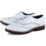 White Vintage Leather Lace Up Baroque Mens Oxfords Dress Shoes