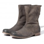 Khaki Suede Leather Vintage Round Head Grunge Mens Boots Bootie Shoes