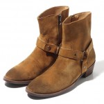 Brown Suede Leather Vintage Pointed Head Mens Boots Bootie Shoes