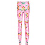 Pink Colored Rainbow Yoga Fitness Leggings Tights Pants