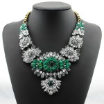 Green Crystals Vintage Glamorous Bohemian Ethnic Necklace
