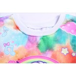 Pink Rainbow Colorful Unicorn Harajuku Funky Long Sleeve Fleece Sweatshirts Tops