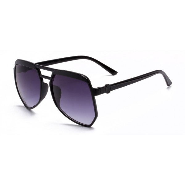 Black Oversized Pilot Rider Aviator Polarized Lens Sunglasses