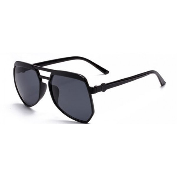 Black Oversized Pilot Rider Polarized Lens Sunglasses