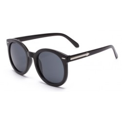 Black Round Arrow Arm Polarized Lens Sunglasses