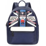 Navy Blue UK British Royal Queen Guard Studs Punk Rock Backpack