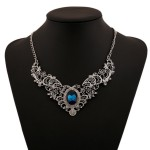 Silver Blue Gemstone Vintage Ethnic Antique Necklace