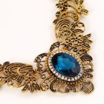 Gold Blue Gemstone Vintage Ethnic Antique Necklace