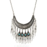 Silver Vintage Tassels Bohemian Ethnic Necklace