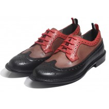 Black Brown Vintage Leather Dapper Man Lace Up Mens Oxfords Dress Shoes