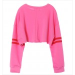 Pink YES Harajuku Funky Long Sleeve Sweatshirts Tops