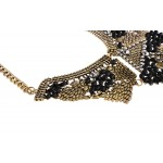 Gold Crystal Vintage Antique Tribal Bohemian Ethnic Necklace