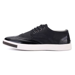 Black Camouflage Leather Lace Up Baroque Mens Oxfords Dress Shoes Sneakers