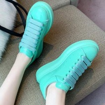 Green Mint Rainbow Candy Chunky Womens Sneakers Shoes