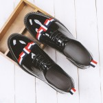 Black Bow Patent Leather Dapper Man Lace Up Mens Oxfords Dress Shoes