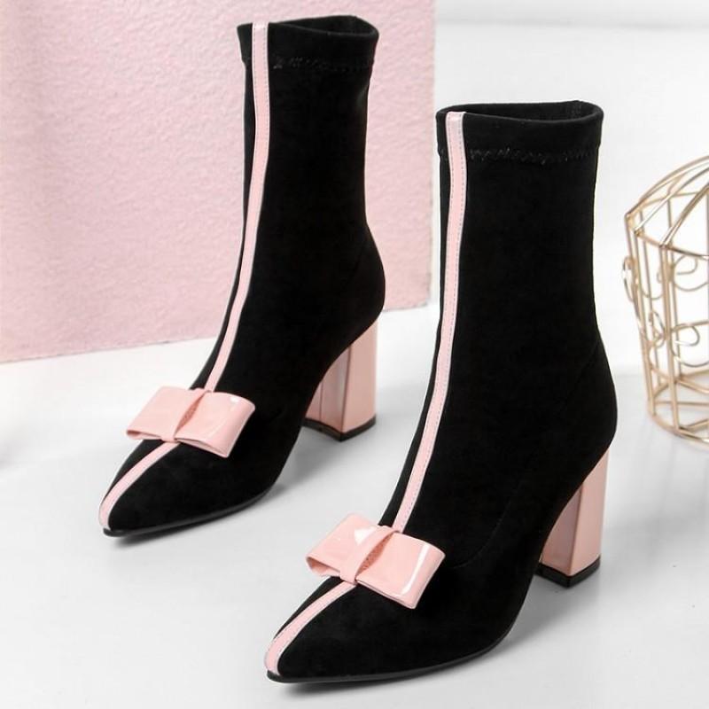 black pink heels
