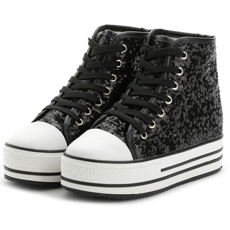 Top Platforms Hidden Wedges Sneakers Shoes