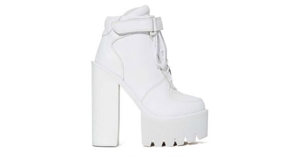 White Sneakers Chunky Sole Block High