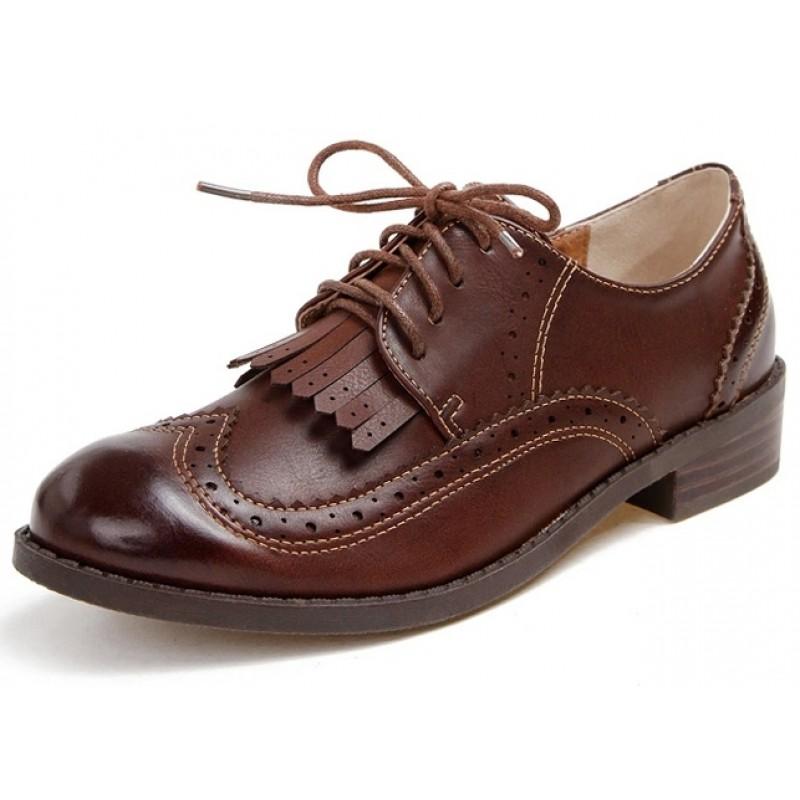 6241ff3de1 brown-leather-tassels-fringes-lace-up-vintage-womens-oxfords-flats-shoes -800x800.jpg