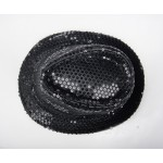 Black Sequins Bling Bling Party Funky Gothic Jazz Dance Dress Bowler Hat