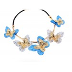 Blue Butterfly Vintage Glamorous Bohemian Ethnic Necklace
