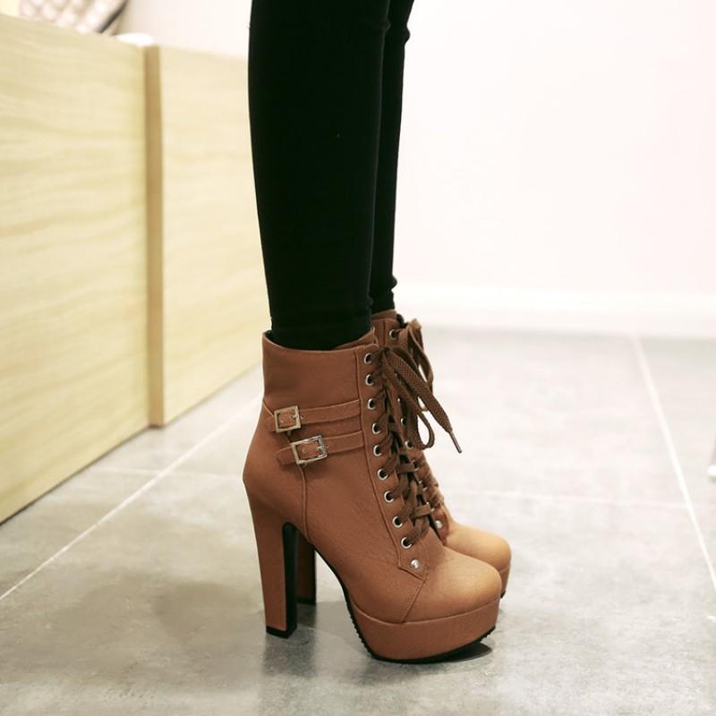 High Heels Platforms Boots Shoes