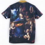 Black Blue Mary Maria Jesus Angels Short Sleeves Mens T-Shirt