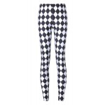 Black White Checkers Yoga Fitness Leggings Tights Pants
