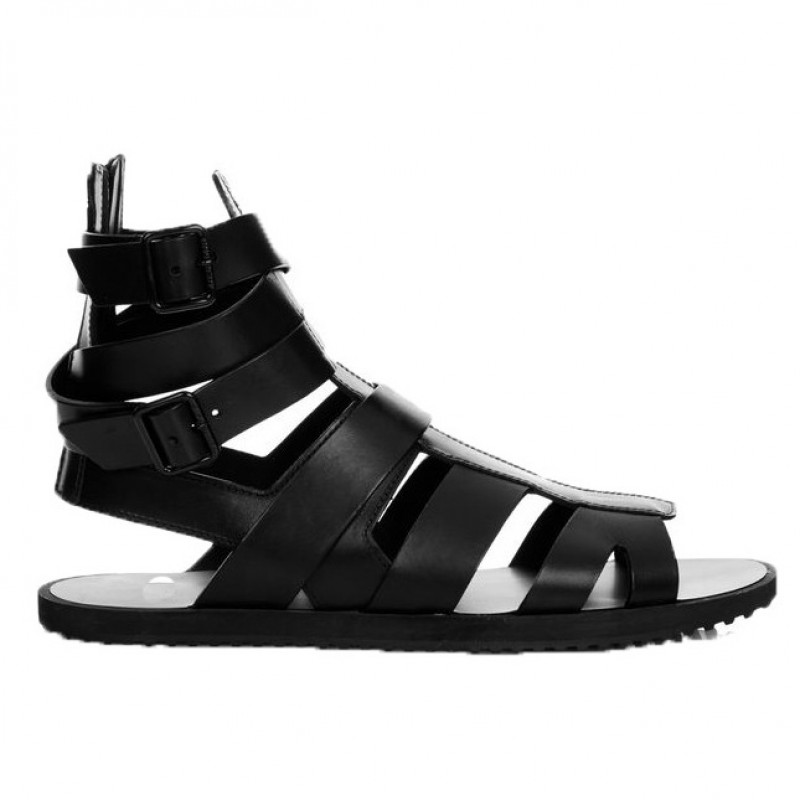 Black Buckles High Top Strappy Fashion