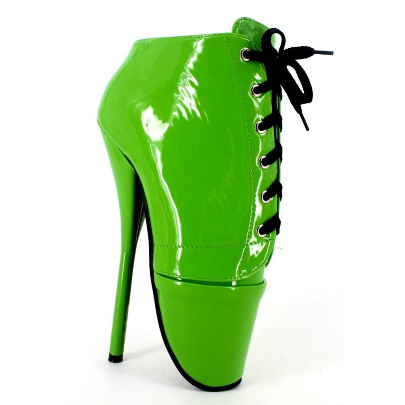 f7f8f11e5d Green Patent Lace Up Ballet Ballerina Super High Stieltto Heels Lady Gaga  Weird Oxfords Shoes