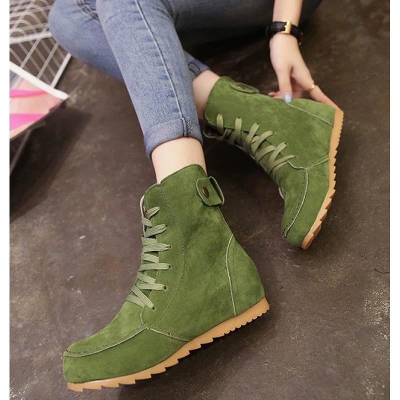 Top Flats Combat Booties Boots Shoes