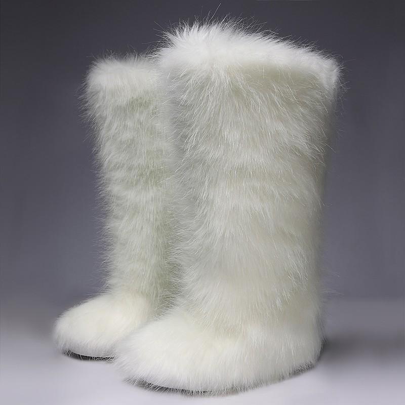 White Furry Long Fur Eskimo Long Fur