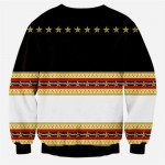 Black Red Gold Stars Totem Vintage Mens Long Sleeves Sweatshirt