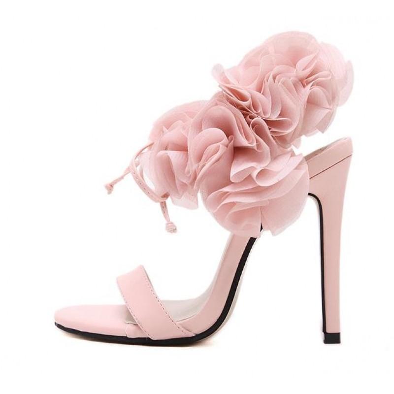 pink black heels