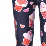 Black Ice Cream Cupcakes Yoga Fitness Leggings Tights Pants