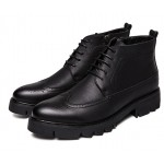 Black Lace Up Pointed Head Baroque Dappermen Mens Oxfords Shoes Ankle Boots