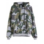 Grey Camouflage Army Military Long Sleeves Sweatshirt
