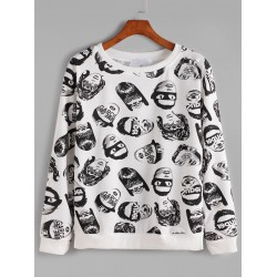 White Avatars Cartoon Long Sleeves weatshirt