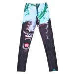 Black Fierce Angry Gorilla Yoga Fitness Leggings Tights Pants