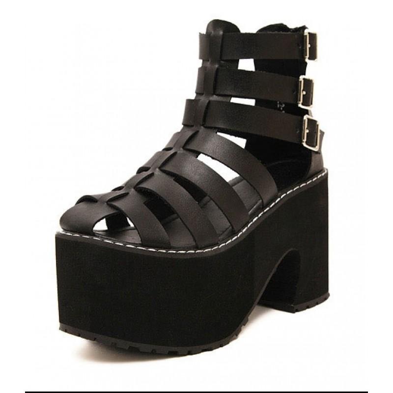 Black Straps Gladiator Lolita Punk Rock