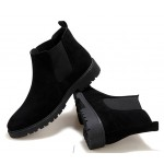 Black Suede Mens Chelsea Ankle Boots Shoes