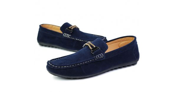 Blue Navy String Suede Mens Casual Loafers Flats Shoes 729e57affe39